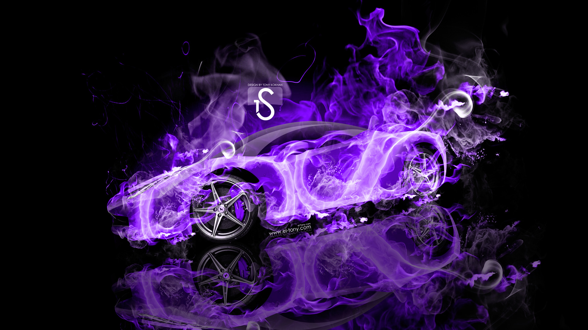 Ferrari Italia Violet Fire Abstract Car 2013 HD
