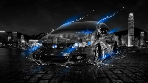 Honda-Civic-Si-JDM-Water-City-Car-2013-Blue-Neon-design-by-Tony-Kokhan-[www.el-tony.com]