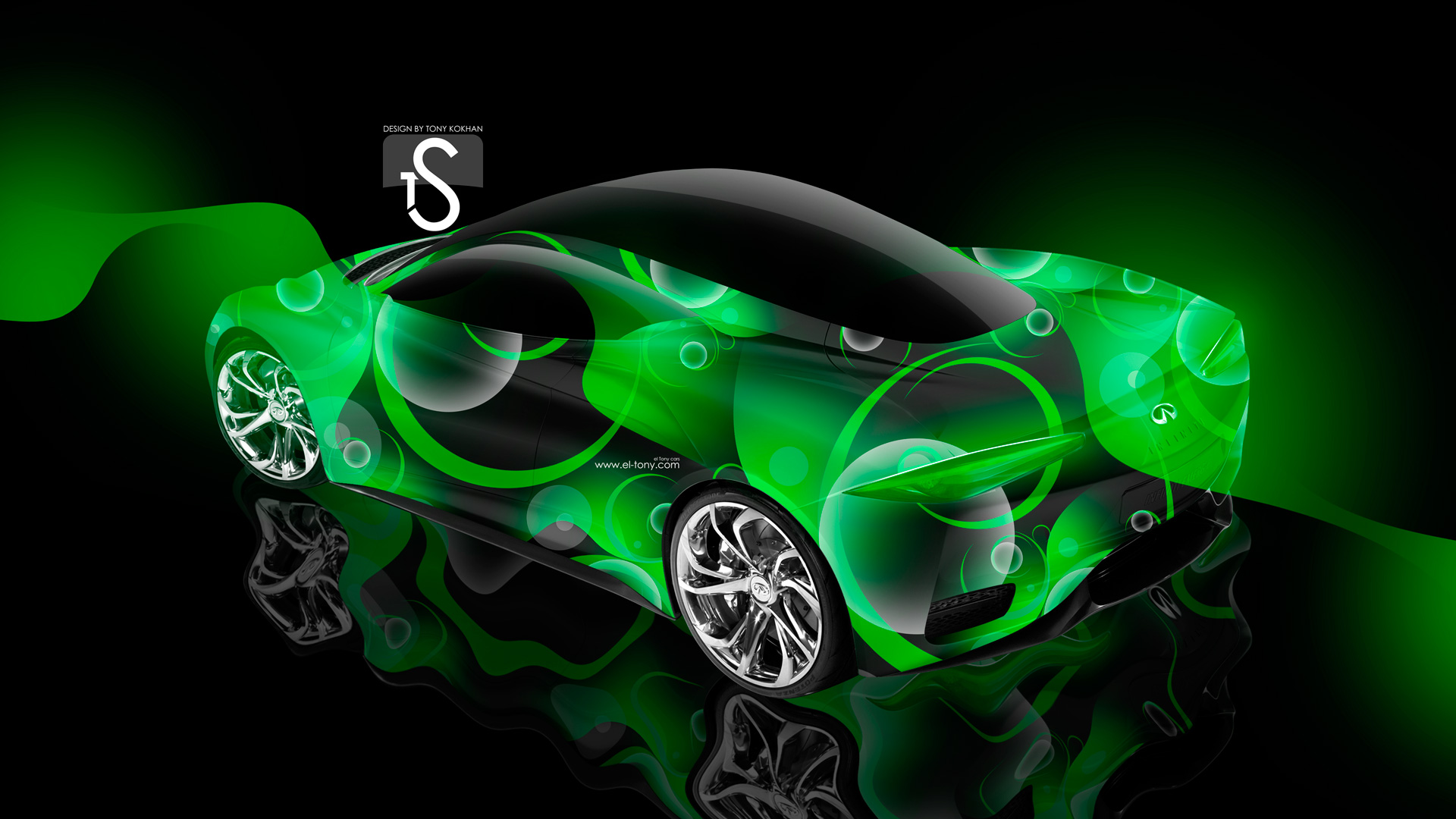 Marvelous Infiniti Emerg E Abstract Green Neon Car 2013 .