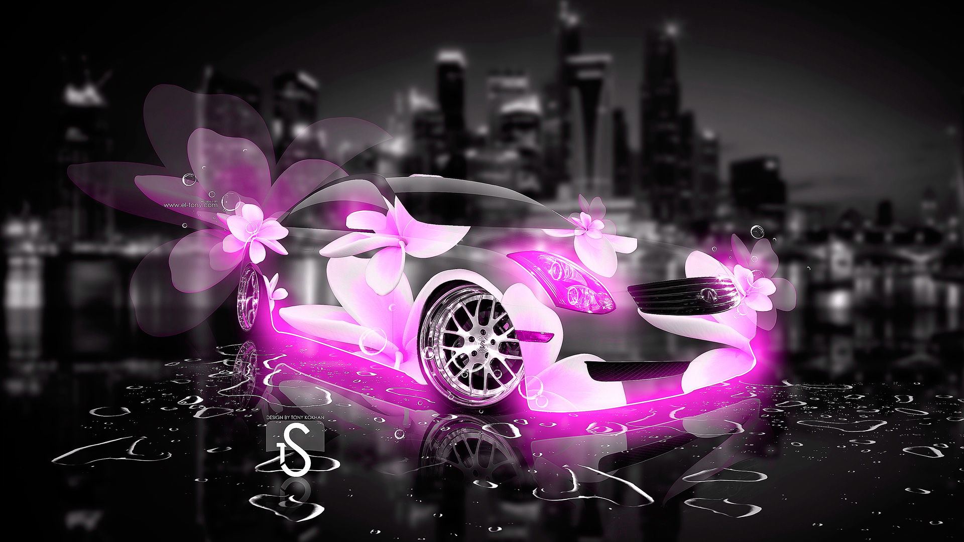 Delicieux Infiniti G35 Fantasy Pink Flowers City Car 2013