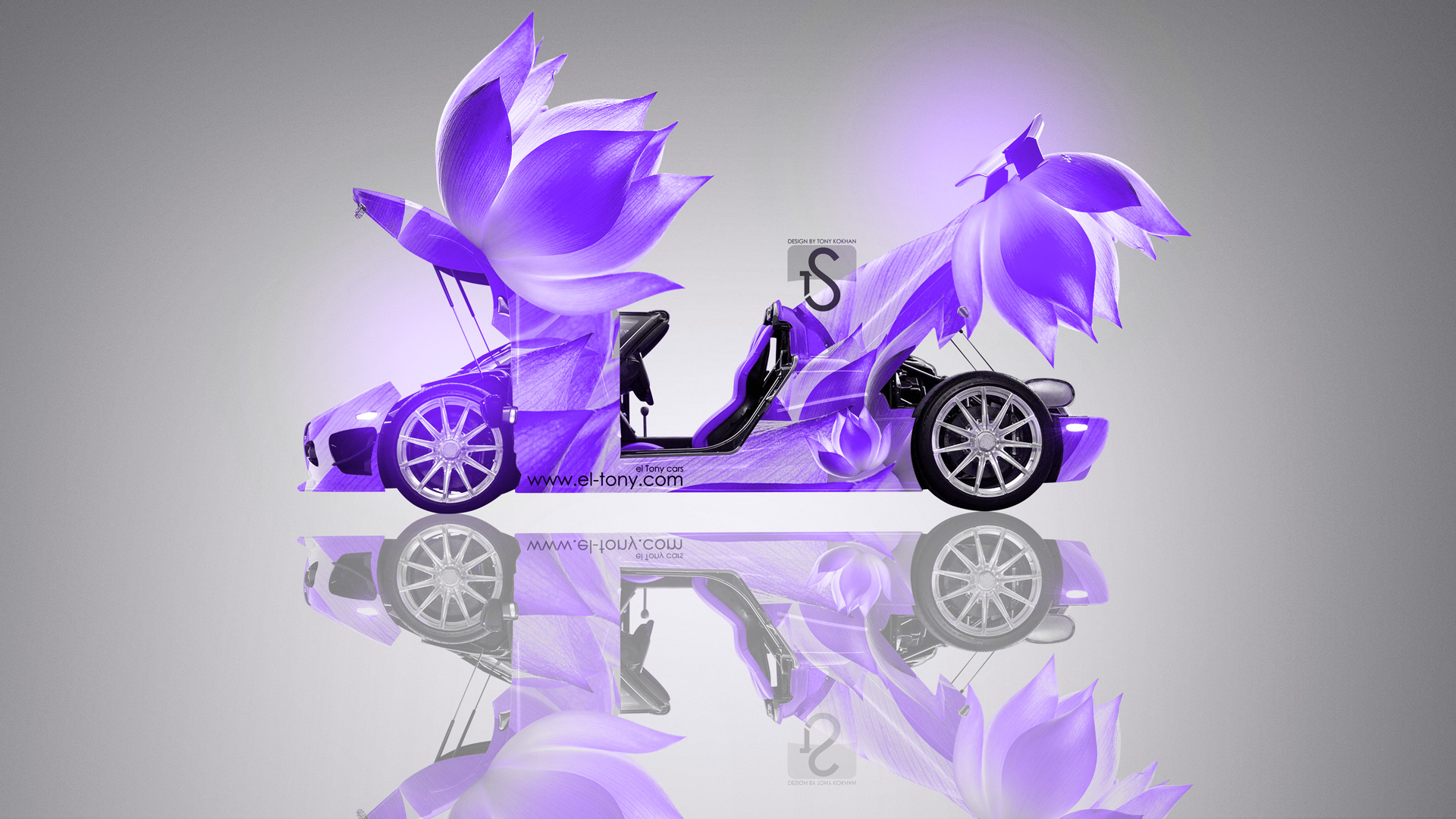 Captivating Koenigsegg CCXR Fantasy Flowers Car 2013 Violet Neon