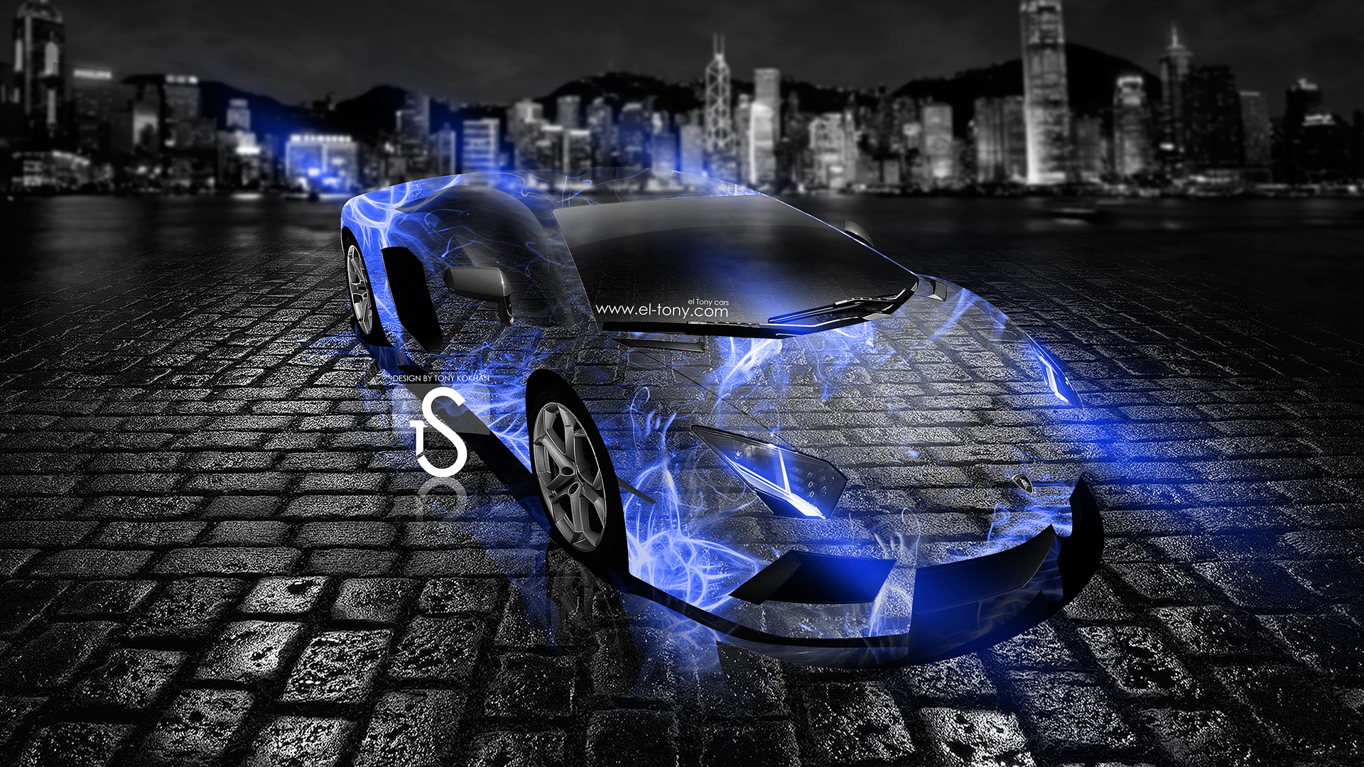 Delicieux Lamborghini Aventador Blue Crystal Abstract Car 2013 HD .