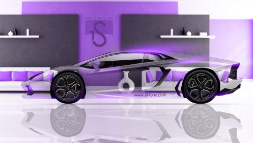 Lamborghini-Aventador-Crystal-Home-Car-2013-Violet-Colors-design-by-Tony-Kokhan-[www.el-tony.com]