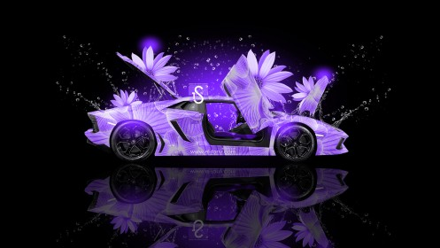 Lamborghini-Aventador-Fantasy-Violet-Flowers-Car-2013-HD-Wallpapers-design-by-Tony-Kokhan-[www.el-tony.com]