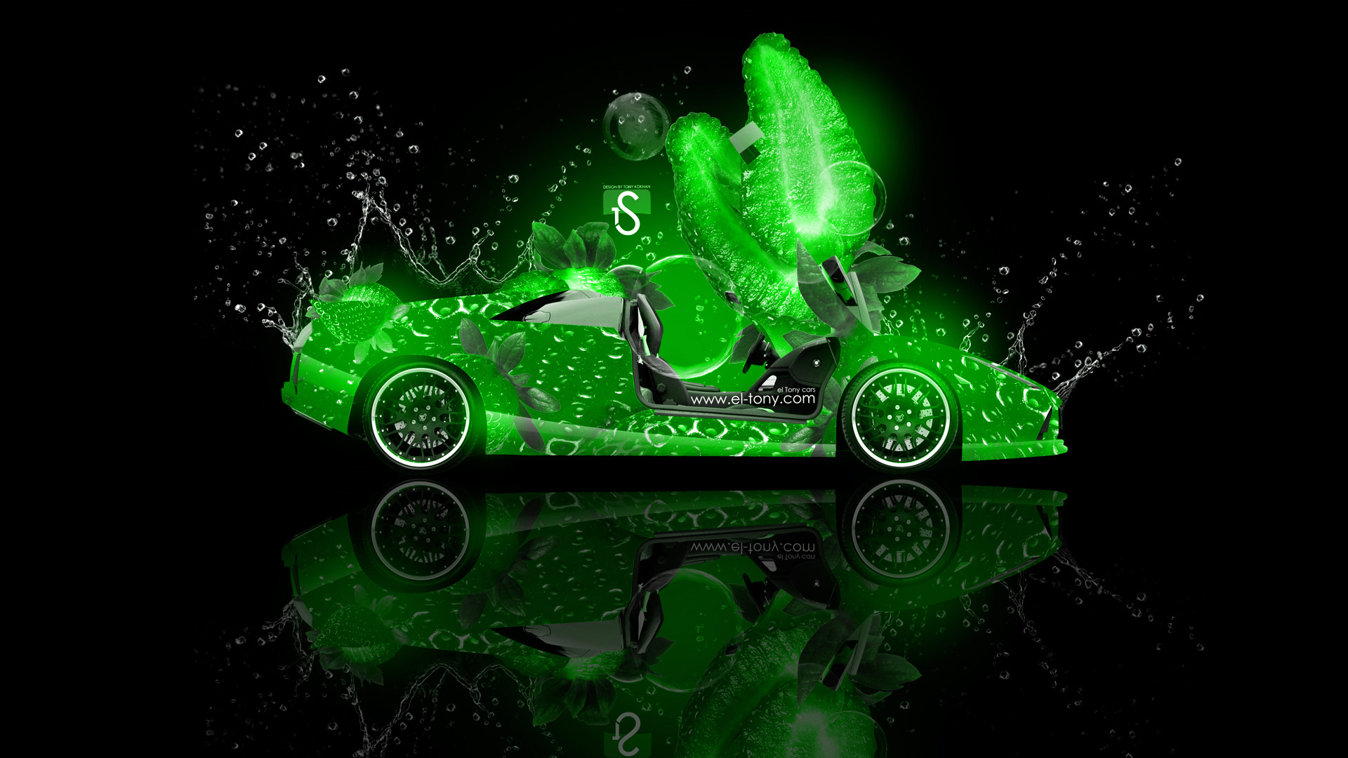 Charmant ... Lamborghini Murcielago Fantasy Green Strawberry Car 2013 Design  ...