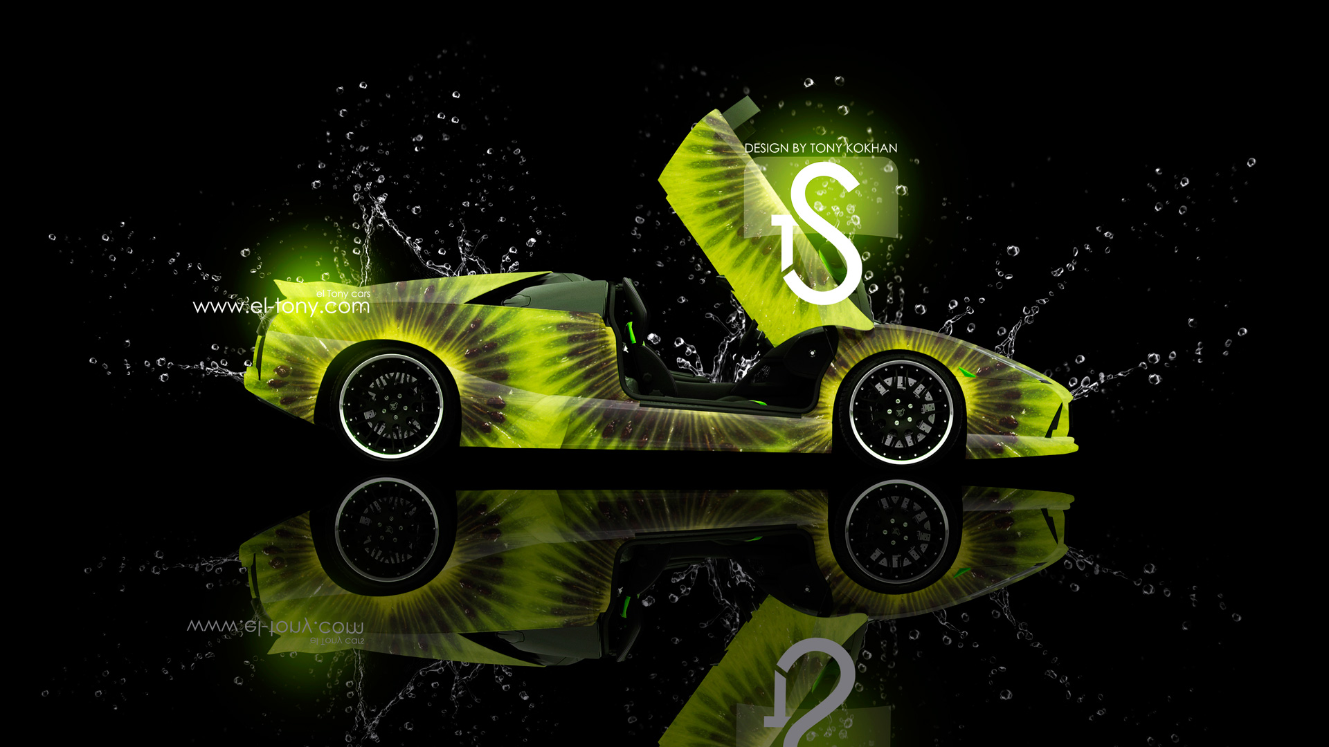Lamborghini Murcielago Kiwi Water Style 2013 HD Wallpapers