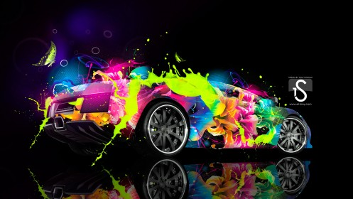 Lamborghini-Murcielago-Multicolors-Abstract-Car--2013-HD-Wallpapers-design-by-Tony-Kokhan-[www.el-tony.com]