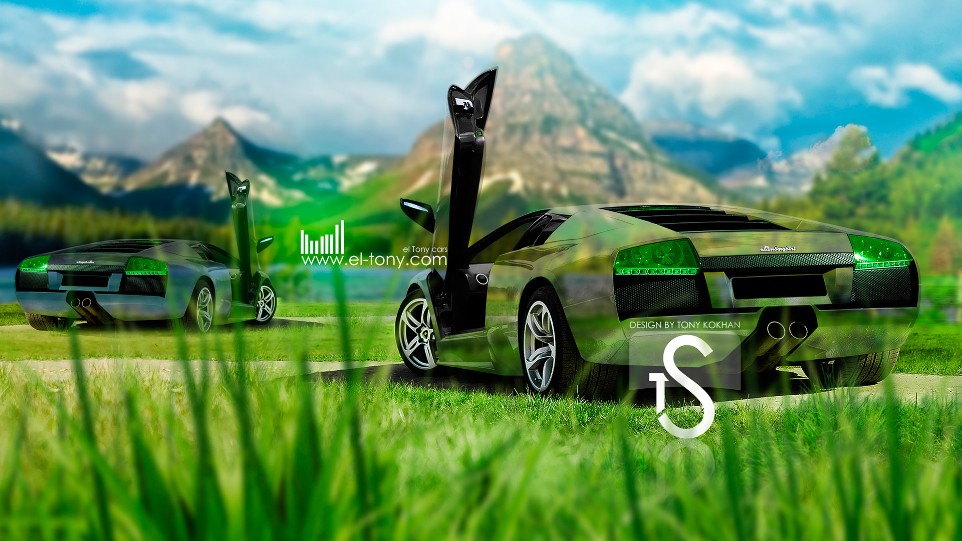 Amazing Lamborghini Murcielago Two Crystal Nature Cars 2013 Design