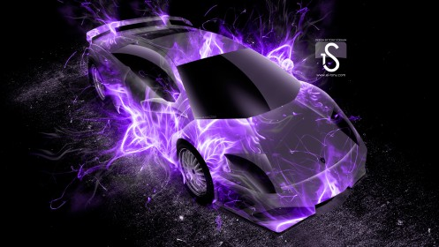 Lamborghini-Murcielago-Up-Violet-Fire-Abstract-Car-2013-HD-Wallpapers-design-by-Tony-Kokhan-[www.el-tony.com]