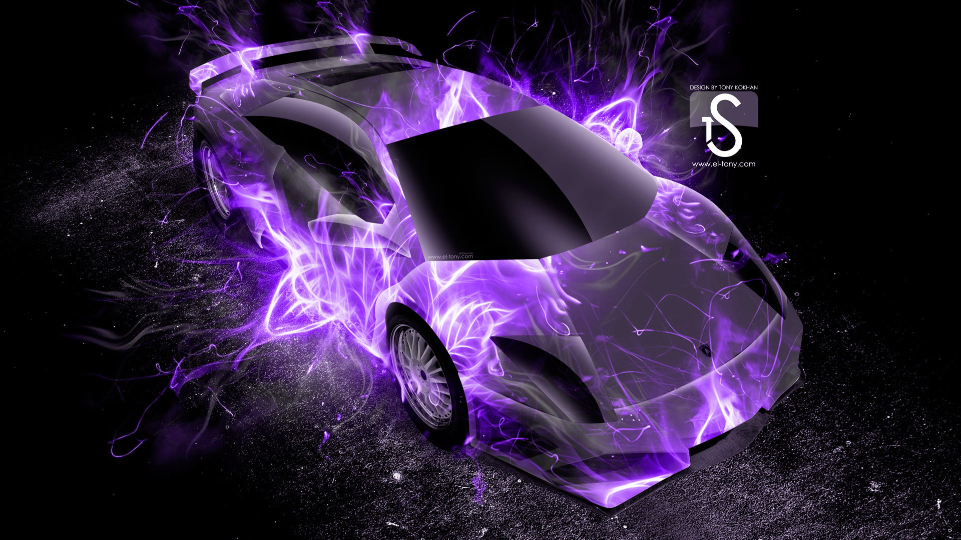 Delicieux Lamborghini Murcielago Up Violet Fire Abstract Car 2013