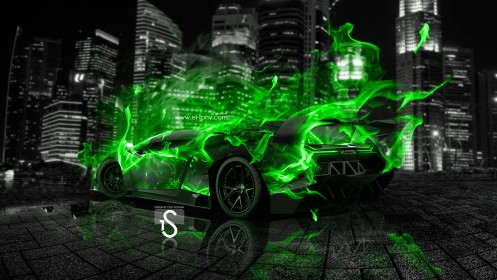 Lamborghini-Veneno-Back-Green-Fire-City-Car-2013-HD-Wallpapers-design-by-Tony-Kokhan-[www.el-tony.com]