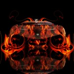 Lamborghini Veneno Front Fire Abstract Car 2013