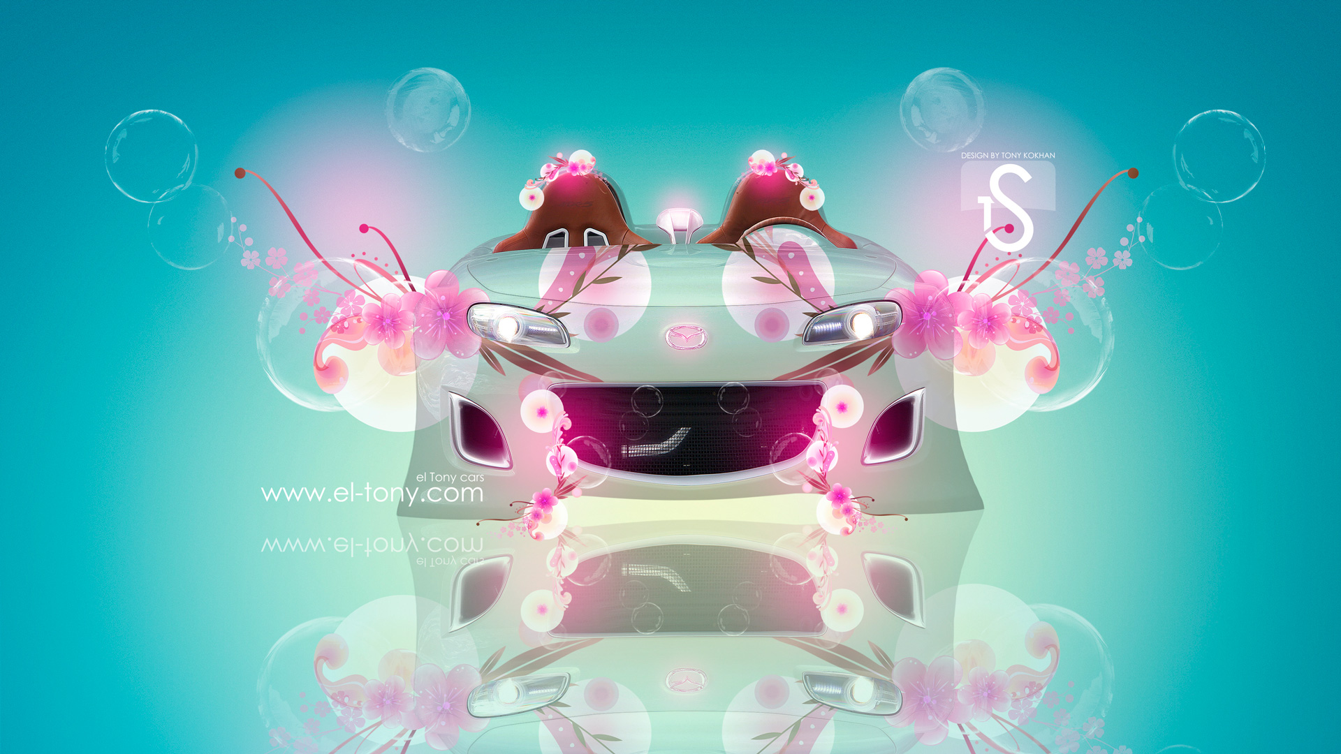 Mazda MX5 Fantasy Flowers Car 2013 HD Wallpapers