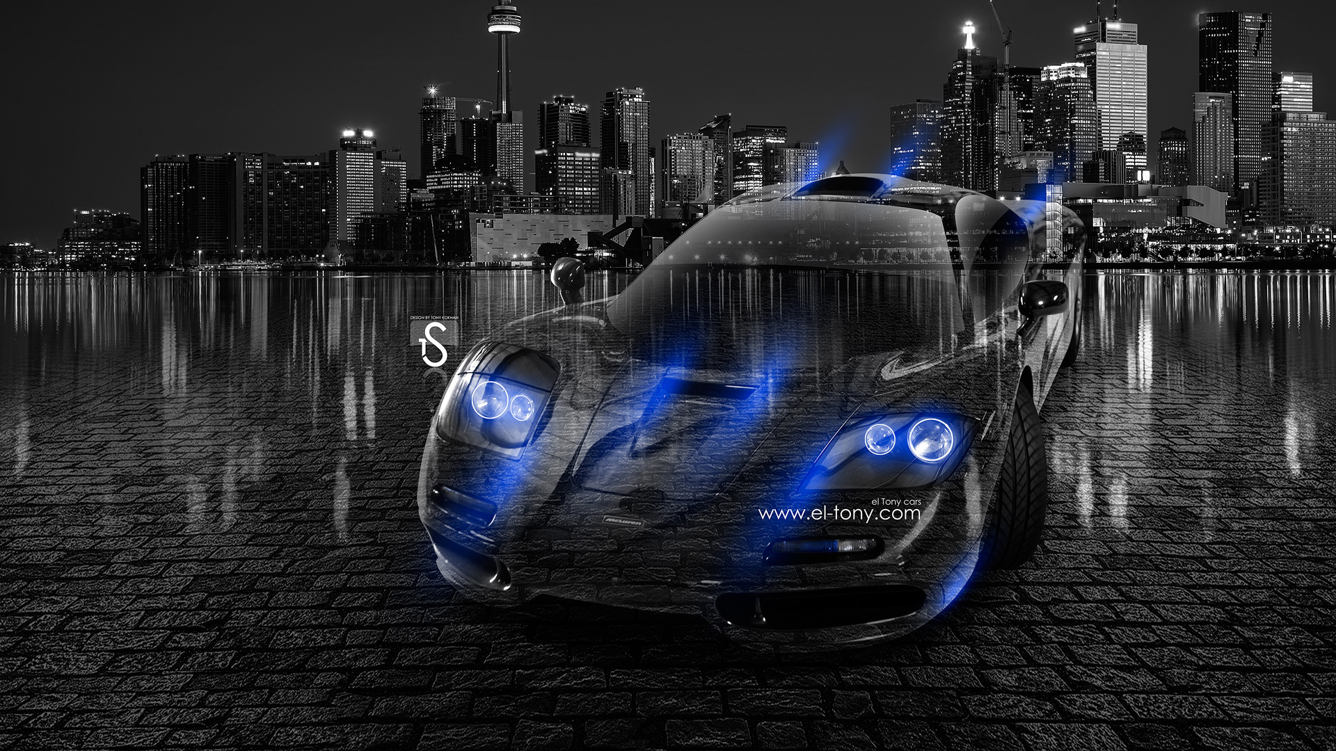 Great Charmant McLaren F1 Crystal City Car 2013 Blue Neon .