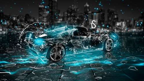 McLaren-MP4-12C-Spyder-Water-Car-2013-Azure-Neon-by-Tony-Kokhan-[www.el-tony.com]