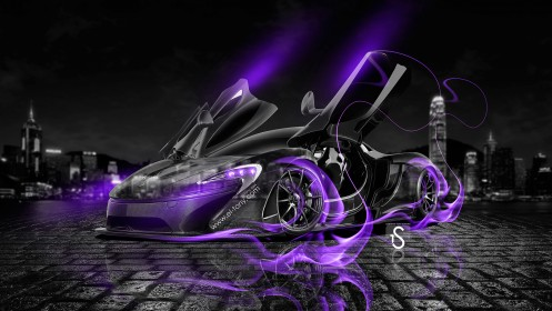 McLaren-P1-Open-Doors-Violet-Fire-Crystal-Car-2013-HD-Wallpapers-design-by-Tony-Kokhan-[www.el-tony.com]