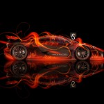 McLaren P1 Side Fire Abstract Car 2013