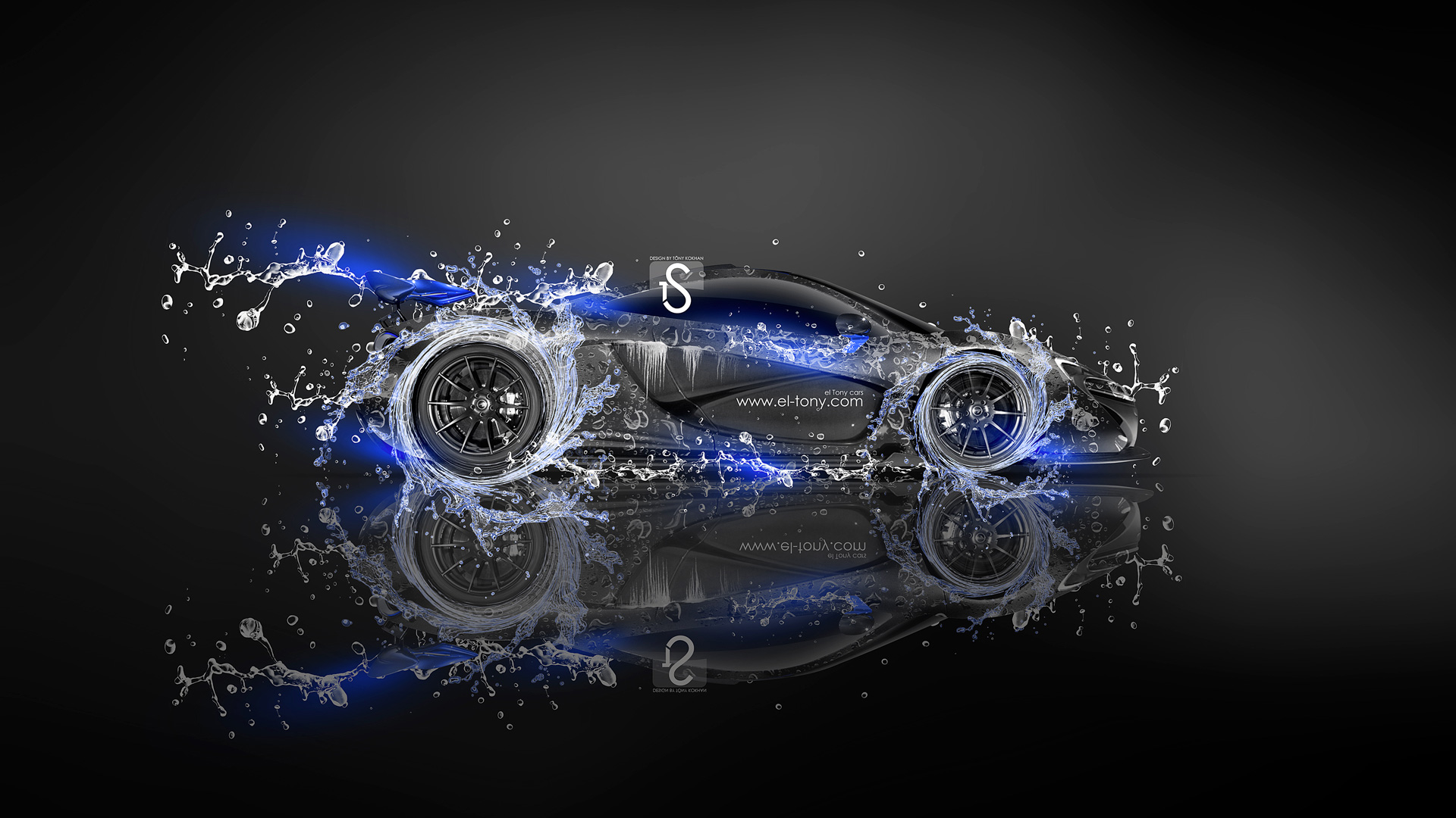 Bon McLaren P1 Super Water Car 2013 Blue Neon