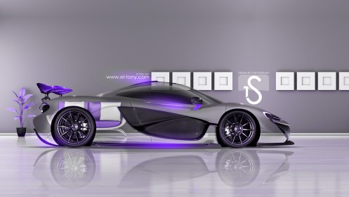 McLaren-P1-Violet-Neon-Crystal-Home-Car-2013-HD-Wallpapers-design-by-Tony-Kokhan-[www.el-tony.com]
