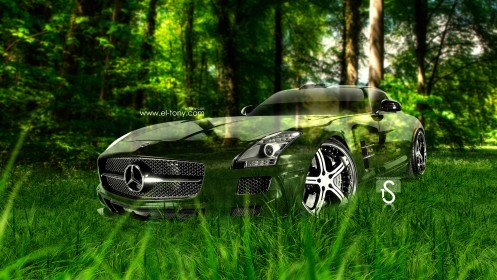 Mercedes-Benz-SLS-AMG-Crystal-Nature-Car-2013-HD-Wallpapers-design-by-Tony-Kokhan-[www.el-tony.com]