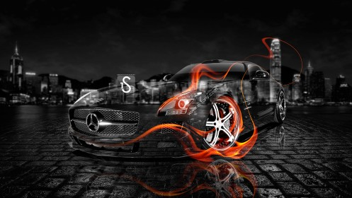 Mercedes-Benz-SLS-AMG-Fire-Crystal-Car-2013-HD-Wallpapers-design-by-Tony-Kokhan-[www.el-tony.com]