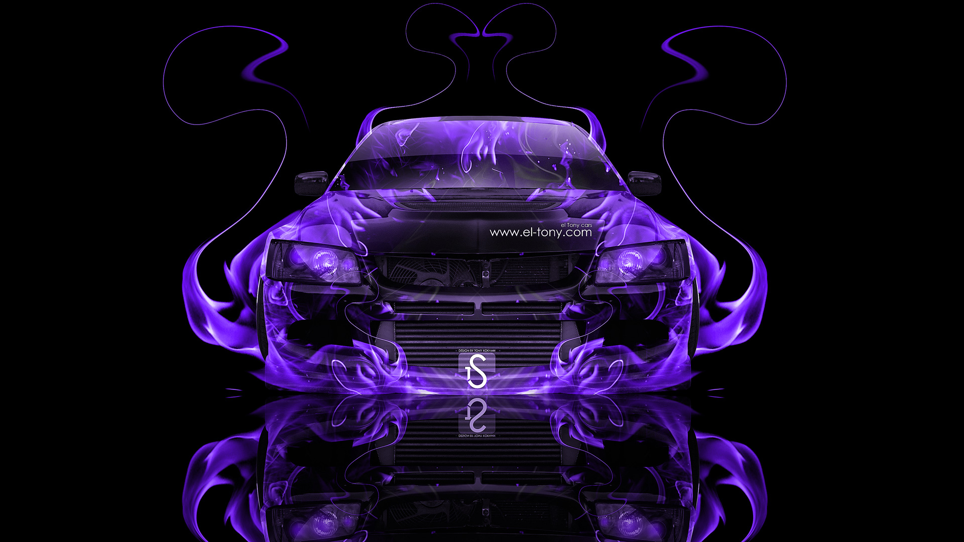 Mitsubishi Lancer Evolution 8 JDM Fire Abstract Car 2013 ...