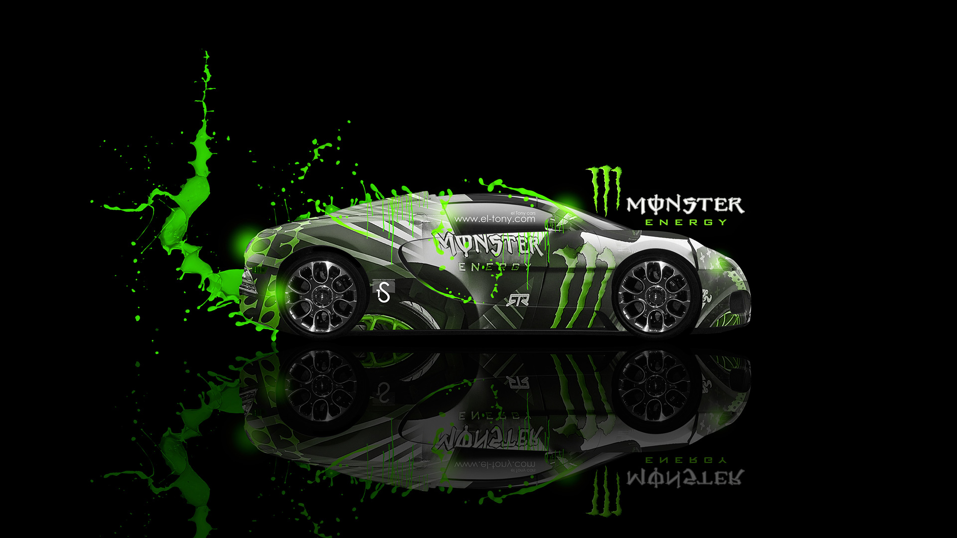 ... Monster Energy Bugatti Veyron Fantasy Car 2013