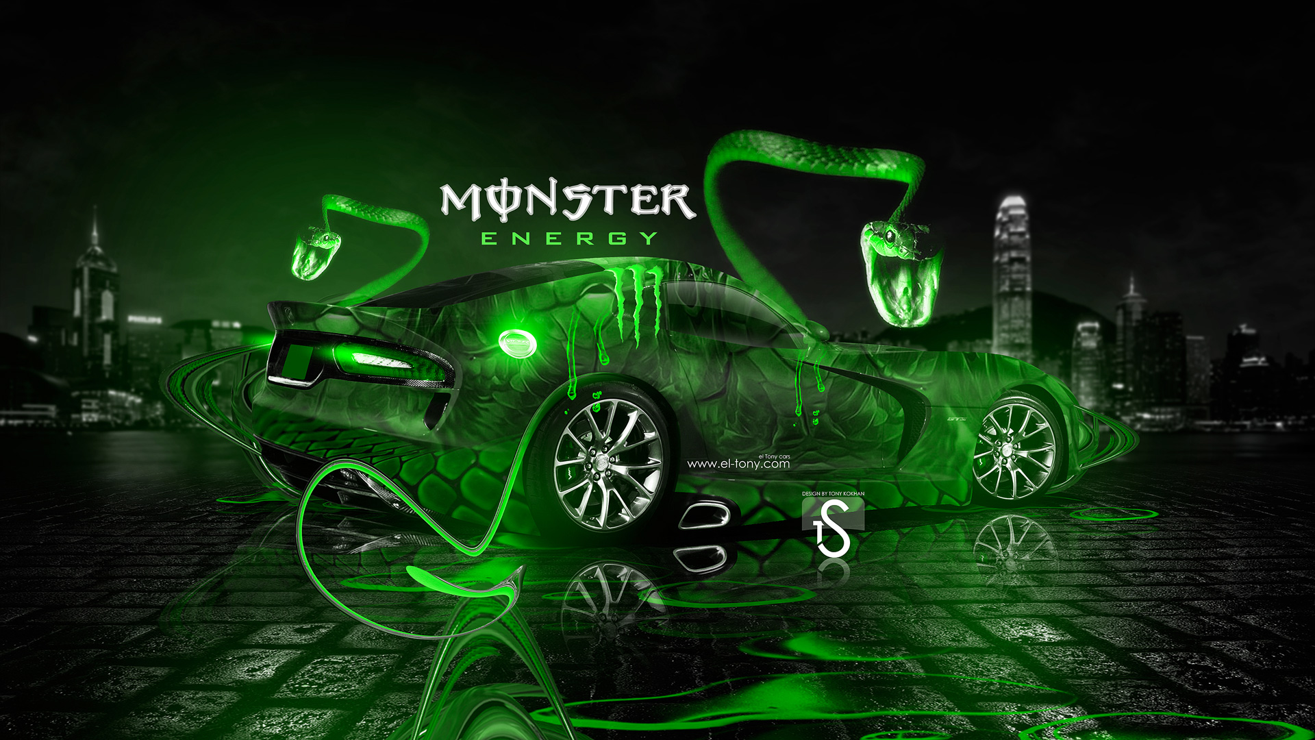 ... Monster Energy Dodge Viper SRT V Fantasy Snake  ...