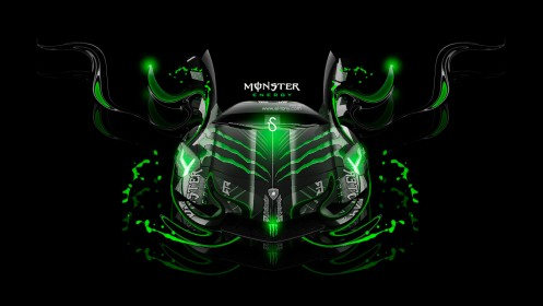 Monster-Energy-Lamborghini-Aventador-Front-Fantasy-Green-Plastic-Car-2013-design-by-Tony-Kokhan-[www.el-tony.com]