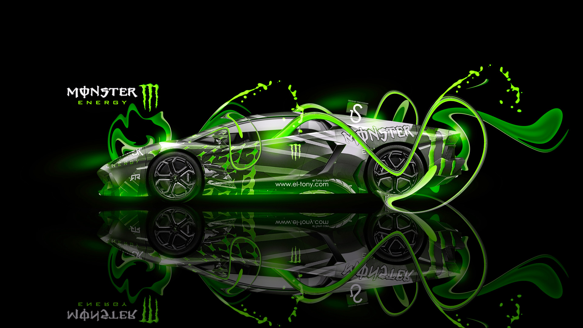 Marvelous ... Monster Energy Lamborghini Aventador Fantasy Plastic Car 2013
