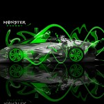 Monster Energy Lamborghini Egoista Fantasy Neon Plastic Car 2013