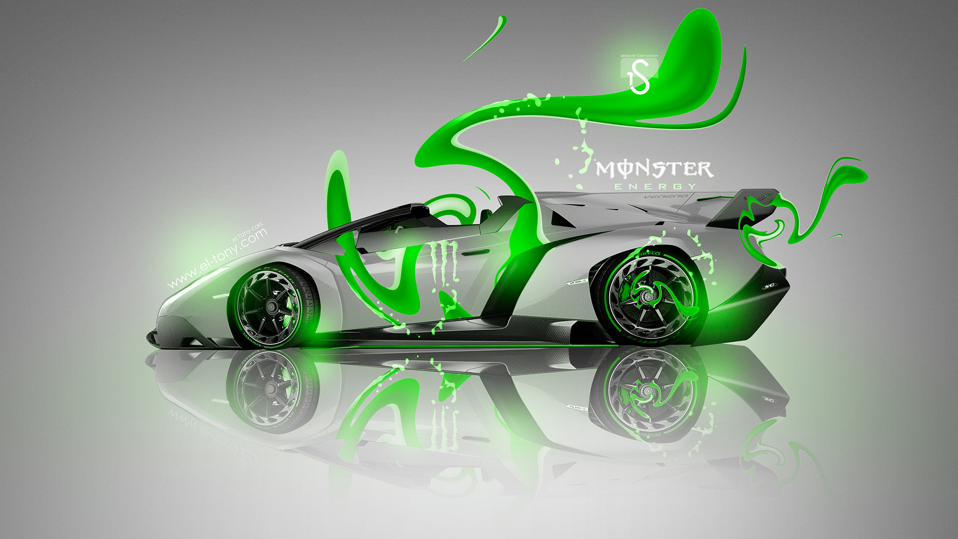 Exceptionnel ... Monster Energy Lamborghini Veneno Roadster Green Neon Car  ...