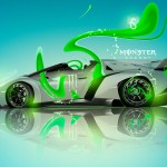 Monster Energy Lamborghini Veneno Roadster Plastic Car 2013