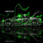 Monster Energy McLaren P1 Fantasy Plastic Car 2013