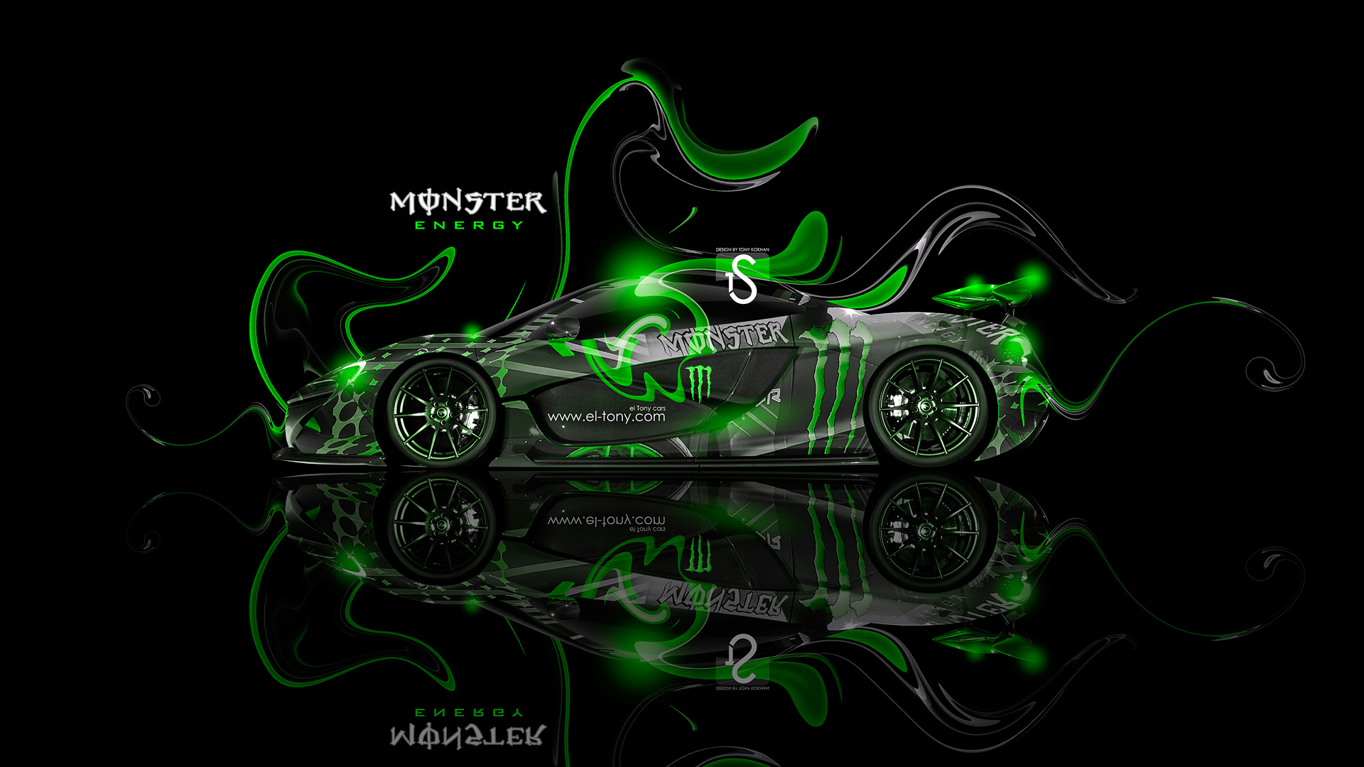 Lovely Monster Energy McLaren P1 Fantasy Plastic Car 2013