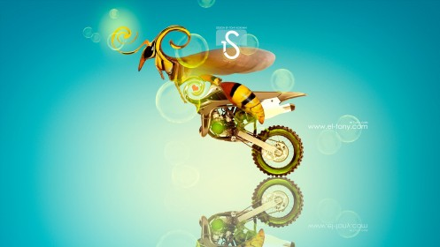 Moto-Kawasaki-Motocross-KX85-Fantasy-Bee-Car-2013-HD-Wallpapers-design-by-Tony-Kokhan-[www.el-tony.com]