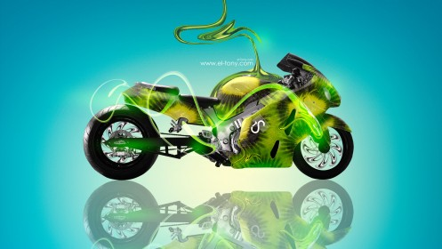 Moto-Suzuki-Hayabusa-Fantasy-Kiwi-Plastic-Style-2013-HD-Wallpapers-design-by-Tony-Kokhan-[www.el-tony.com]
