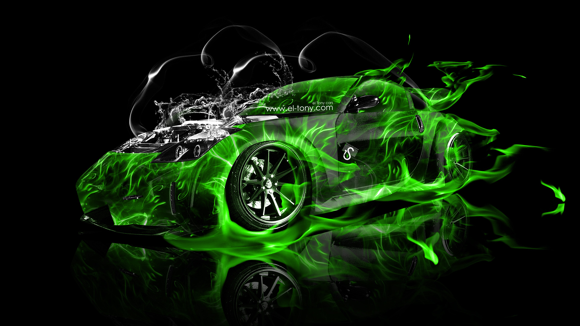 Mazda Rx7 2015 >> Nissan 350Z VeilSide Water Engine Fire Abstract Car 2013 ...