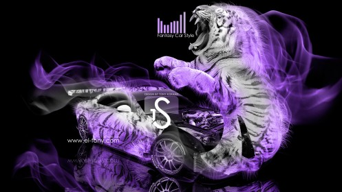 Nissan-GTR-R35-Fantasy-Tiger-Car-2013-Violet-Smoke-HD-Wallpapers-design-by-Tony-Kokhan-[www.el-tony.com]