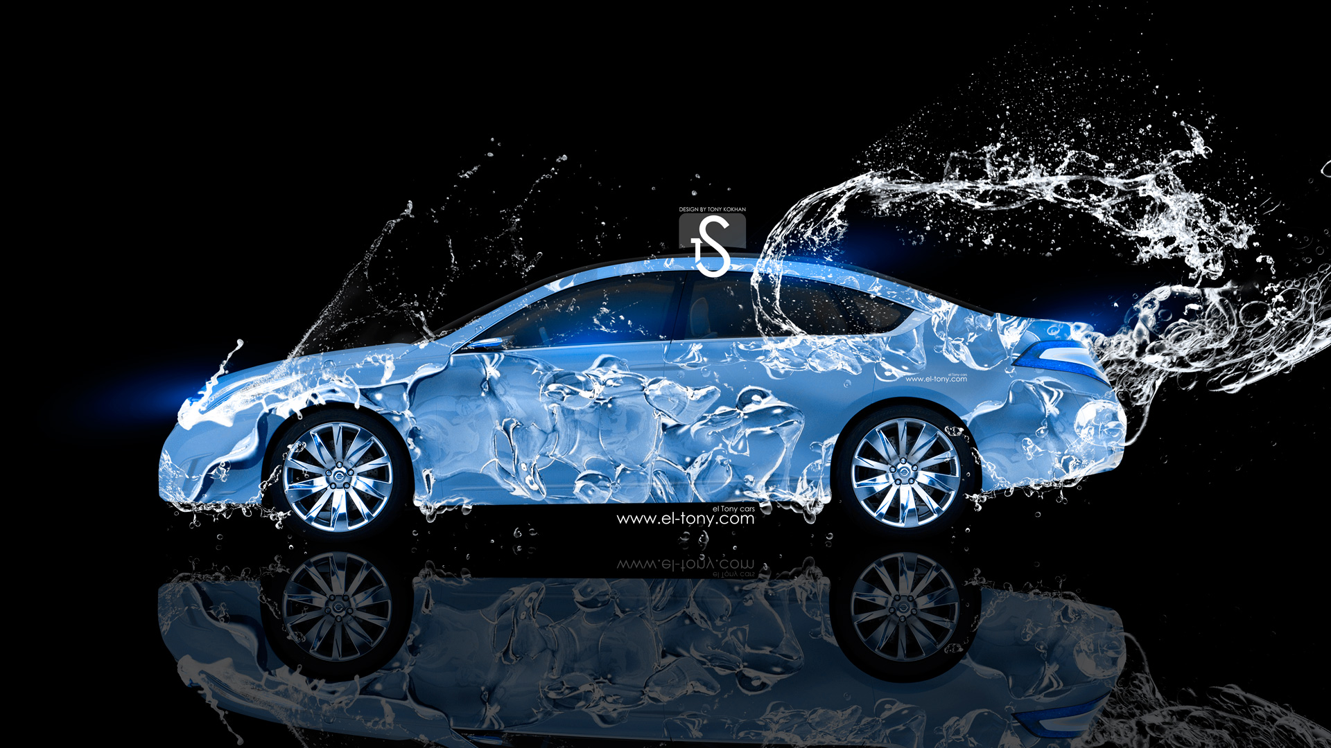 Nissan Intima Water Car 2013 Blue Neon HD