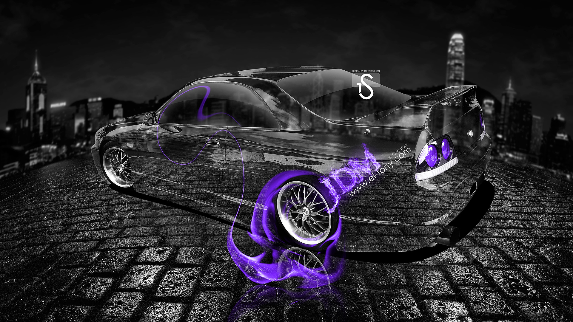 Perfect Nissan Skyline GTR R33 JDM Violet Fire Crystal