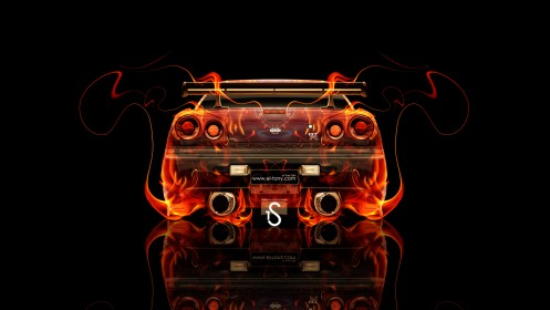 Nissan-Skyline-GTR-R34-JDM-Back-Fire-Car-2013-HD-Wallpapers-design-by-Tony-Kokhan-[www.el-tony.com]