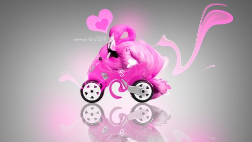 Toy-Fantasy-Flamingo-Moto-2013-Pink-Colors-HD-Wallpapers-design-by-Tony-Kokhan-[www.el-tony.com]