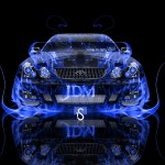 Toyota Aristo JDM Front Fire Abstract Car 2013