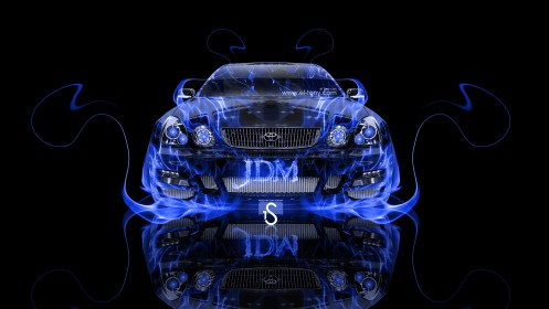 Toyota-Aristo-JDM-Front-Blue-Fire-Abstract-Car-2013-HD-Wallpapers-design-by-Tony-Kokhan-[www.el-tony.com]