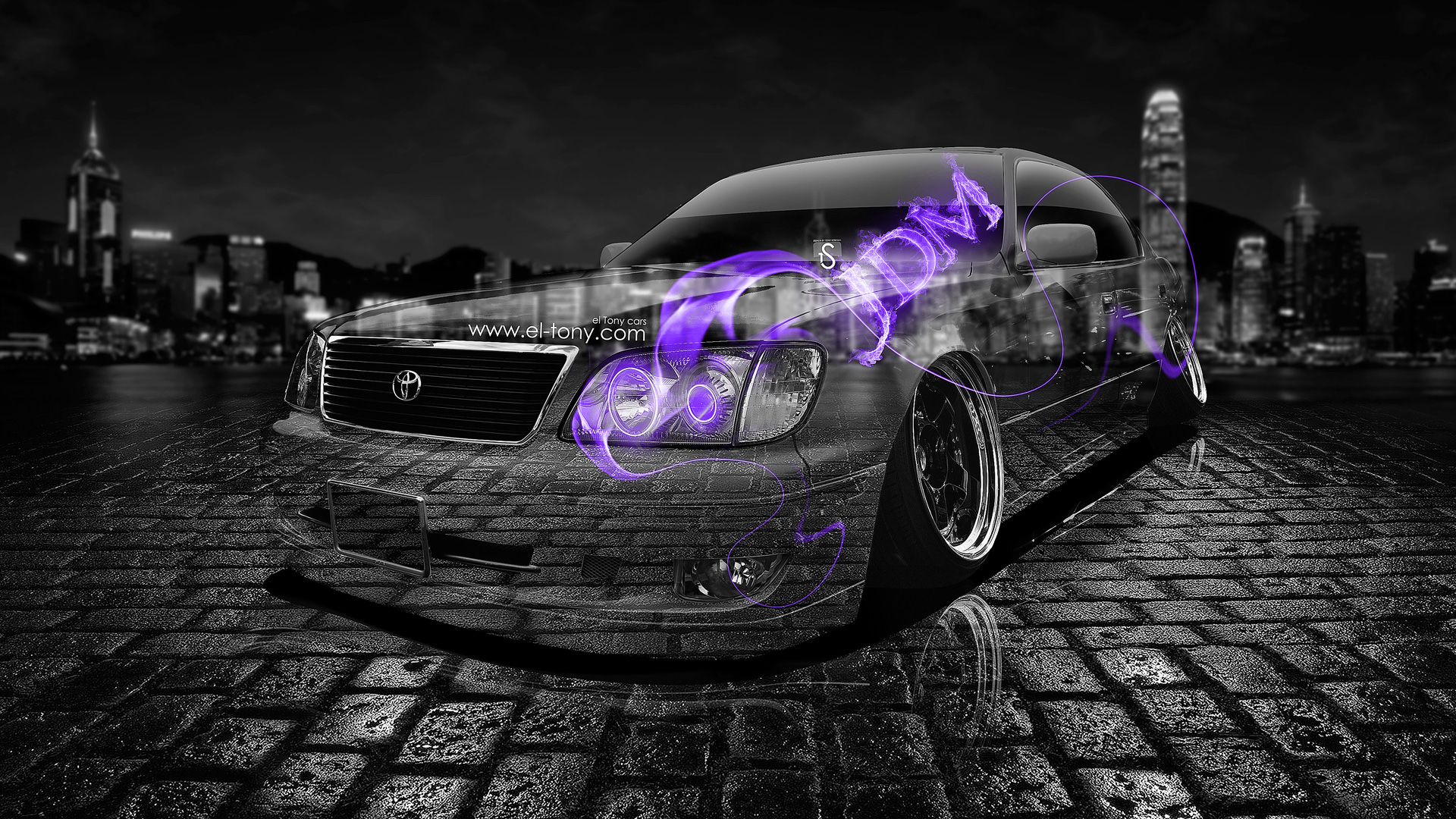 Toyota Celsior JDM Violet Fire Crystal Car 2013