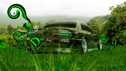 Toyota-Chaser-JZX100-Back-JDM-Crystal-Nature-Car-2013-by-Tony-Kokhan-[www.el-tony.com]