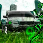 Toyota Chaser JZX100 JDM Effects Crystal Nature City Car 2013