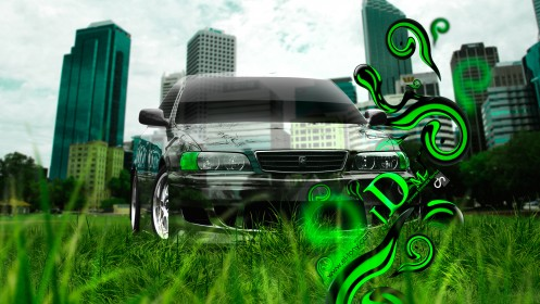 Toyota-Chaser-JZX100-JDM-Effects-Crystal-Nature-City-Car-2013-by-Tony-Kokhan-[www.el-tony.com]