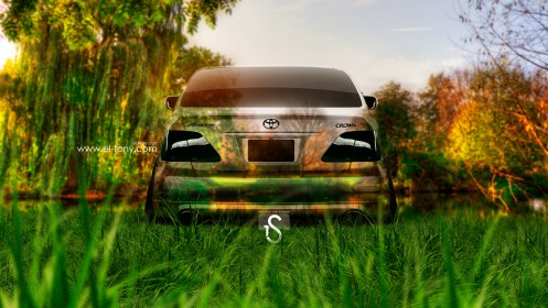 Toyota-Crown-Athlete-JDM-Back-Crystal-Nature-Car-2013-HD-Wallpapers-by-Tony-Kokhan-[www.el-tony.com]